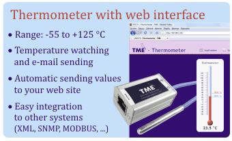 IP thermometer TME - functions