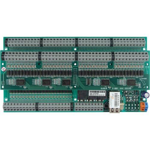 Quido ETH 100/3: 100x digital inputs, 3x output relay, 1x temperature input, Ethernet interface
