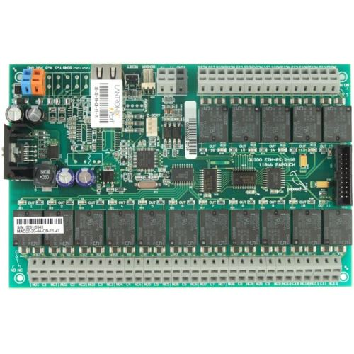Quido ETH 2/16: 2x digital inputs, 16x output relay, 1x temperature input, Ethernet interface