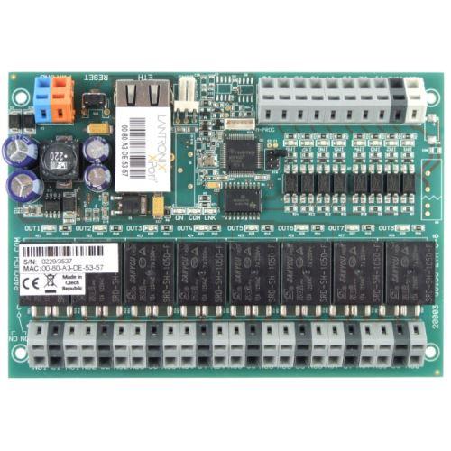 Quido ETH 8/8: 8x digital inputs, 8x output relay, 1x temperature input, Ethernet interface