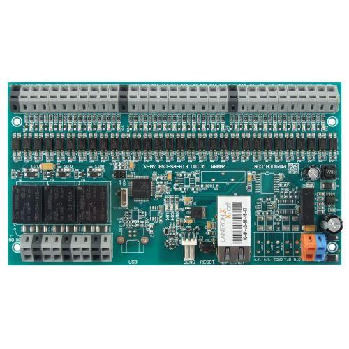 Quido ETH 30/3: 30x digital inputs, 3x output relay, 1x temperature input, Ethernet interface