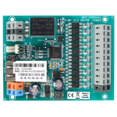 Quido ETH 10/1: 10x digital inputs, 1x  output relay, 1x temperature input, Ethernet interface